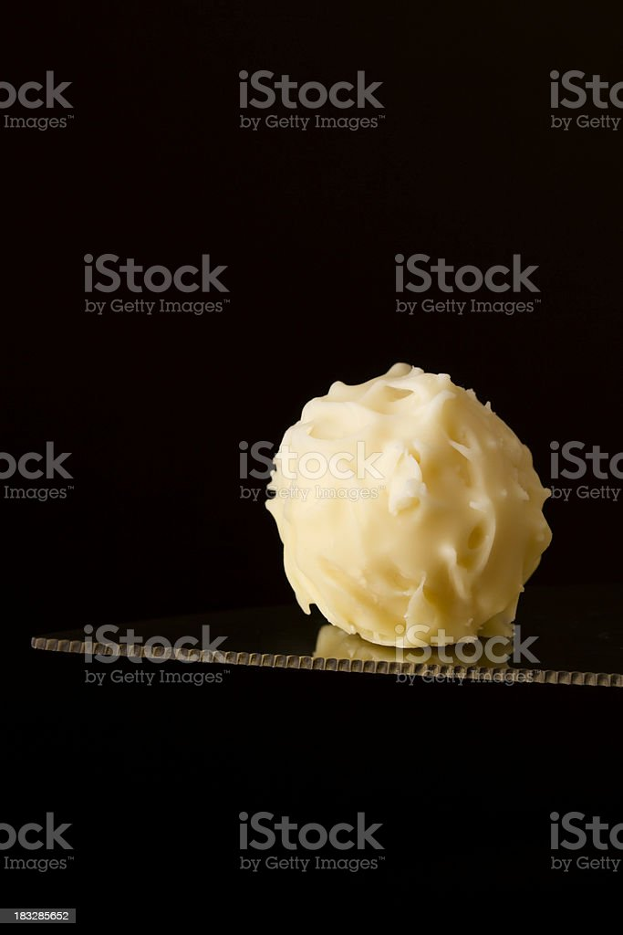 White chocolate truffle royalty-free stock photo