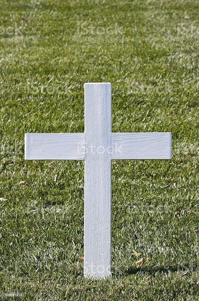 White Christian Cross stock photo