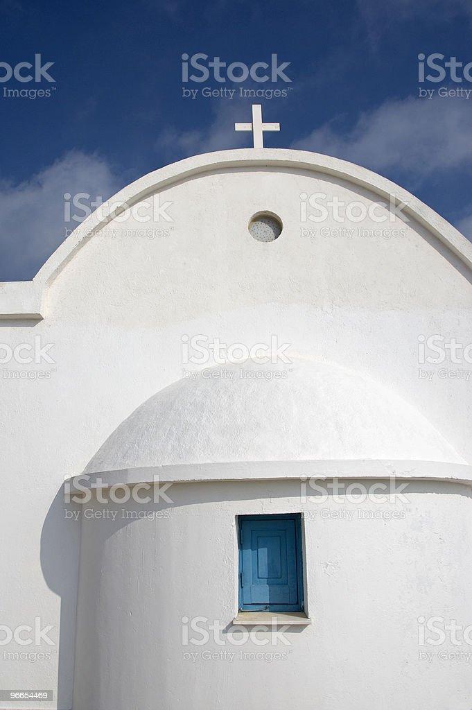 White Christian  small church stock photo