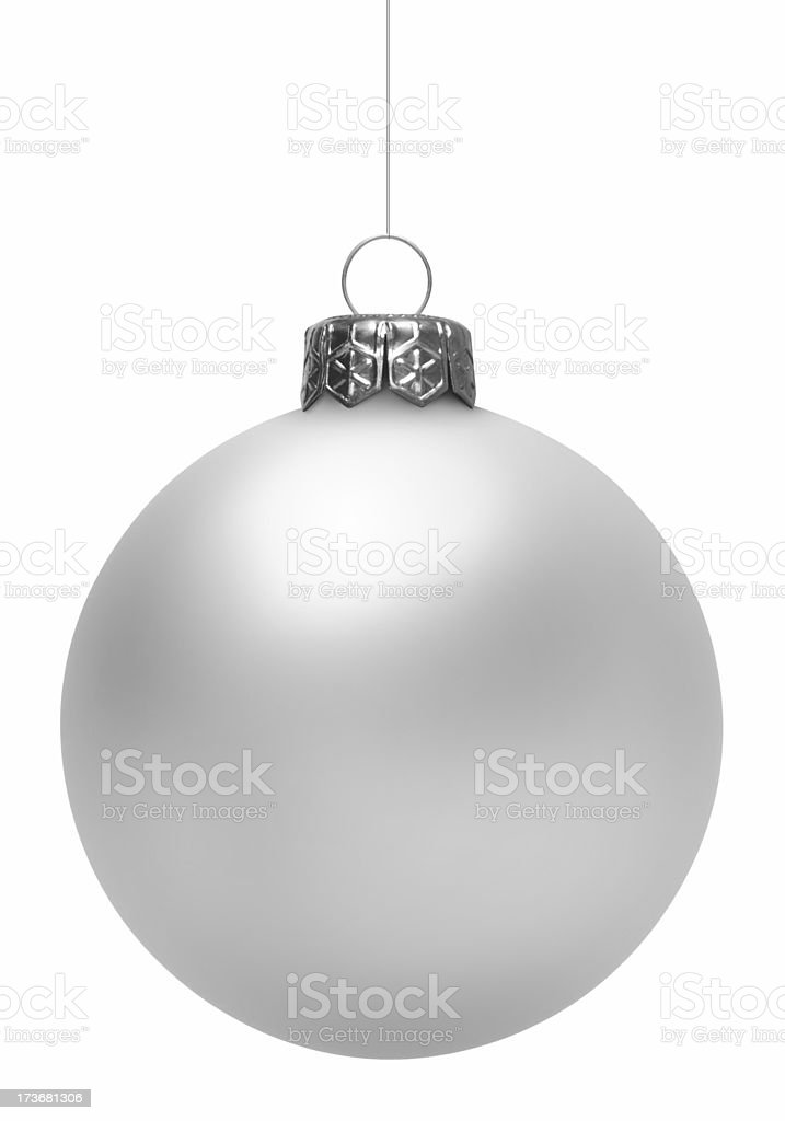 White Christmas Ball (Isolated) royalty-free stock photo