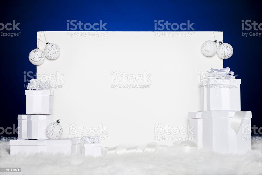 White Christmas card royalty-free stock photo