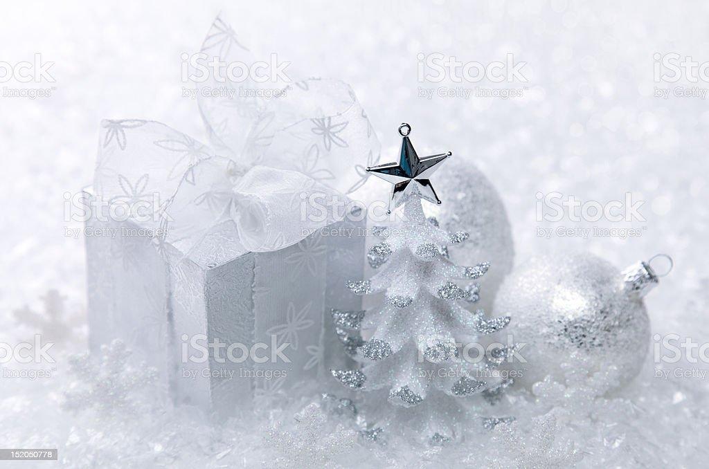 White christmas decoration royalty-free stock photo