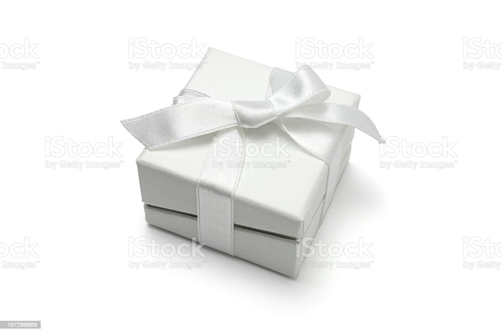 White Christmas Gift stock photo