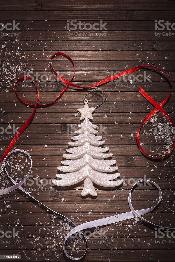 white Christmas Tree royalty-free stock photo