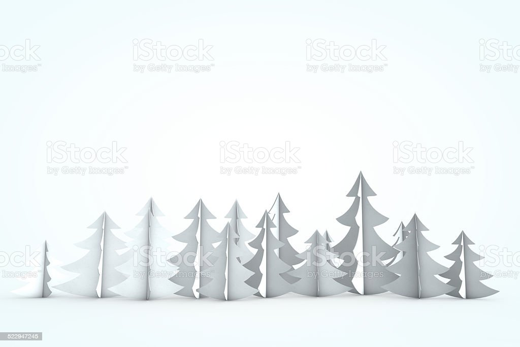 White christmas tree scene stock photo