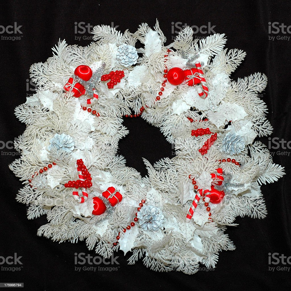 White Christmas Wreath royalty-free stock photo