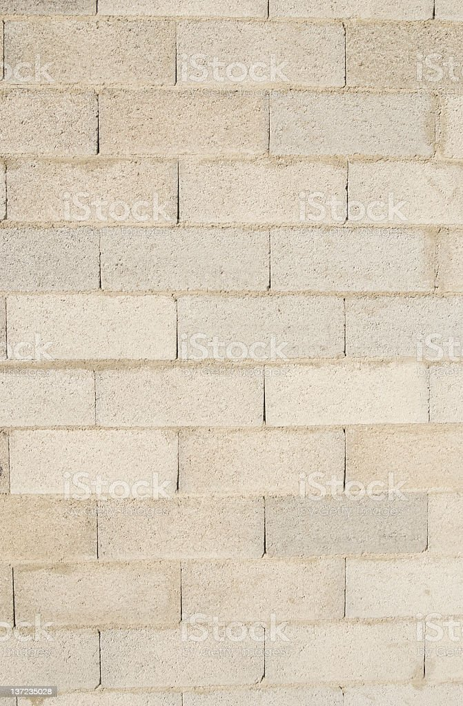 White Cinder Block Brick Wall royalty-free stock photo