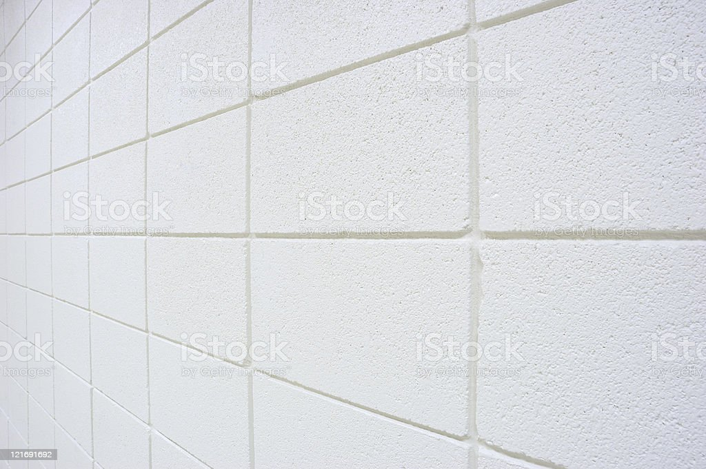 White Cinder Block Wall royalty-free stock photo