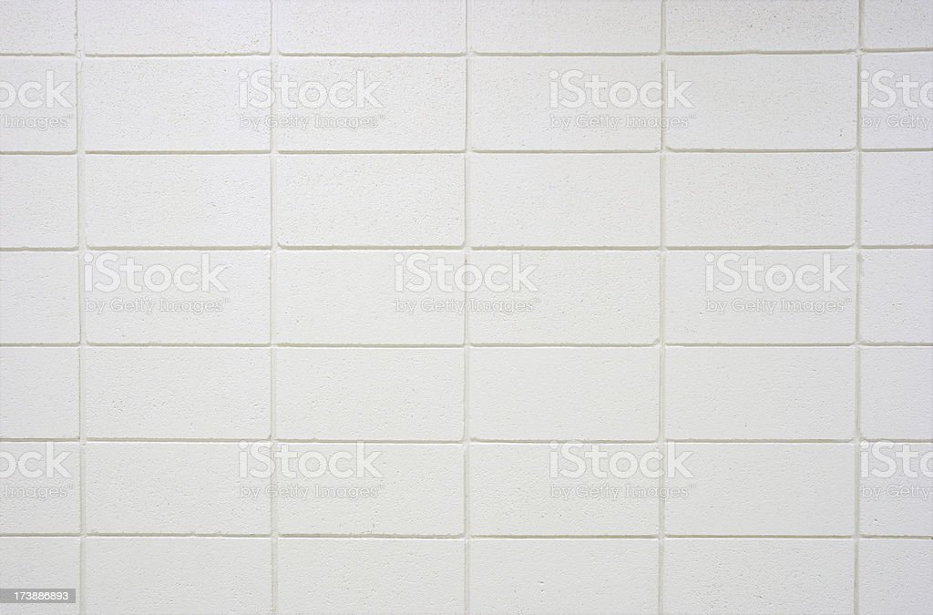 White Cinder Block Wall stock photo