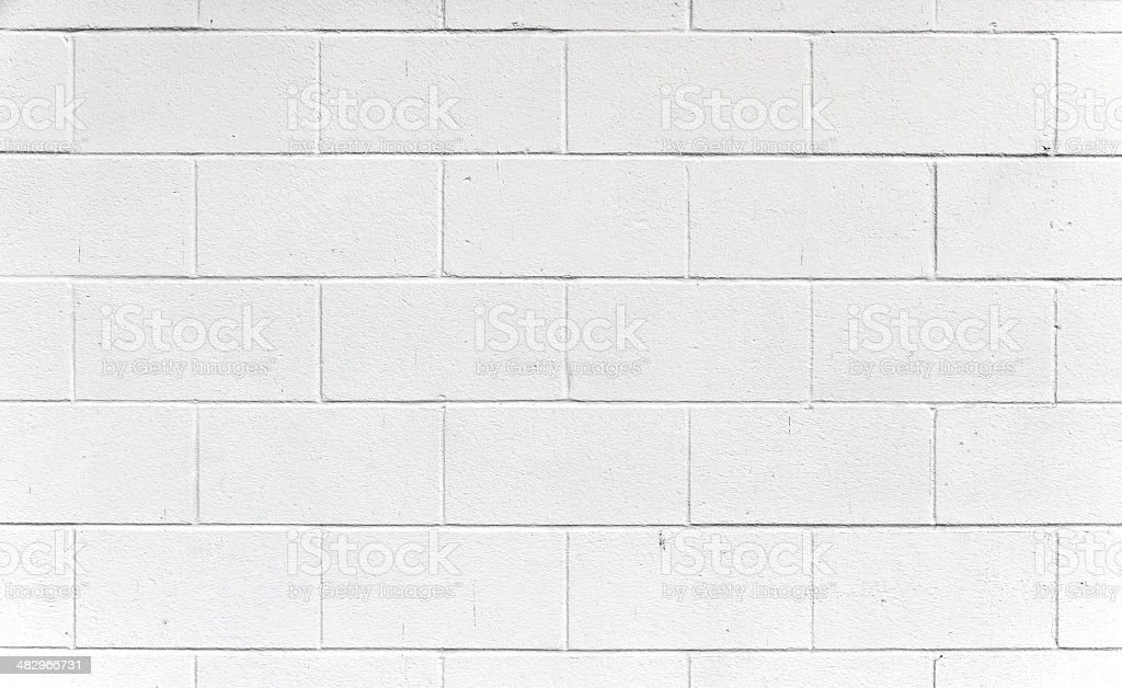 White Cinderblock wall. royalty-free stock photo