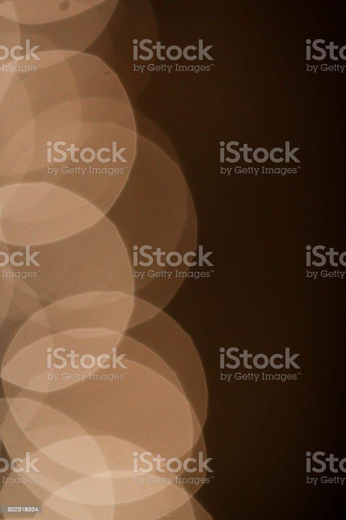 ホワイトのサークルの夜景を背景 ロイヤリティフリーストックフォト
