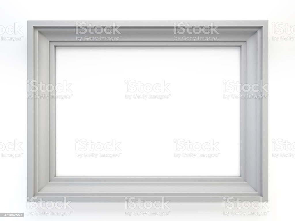white classic frame stock photo