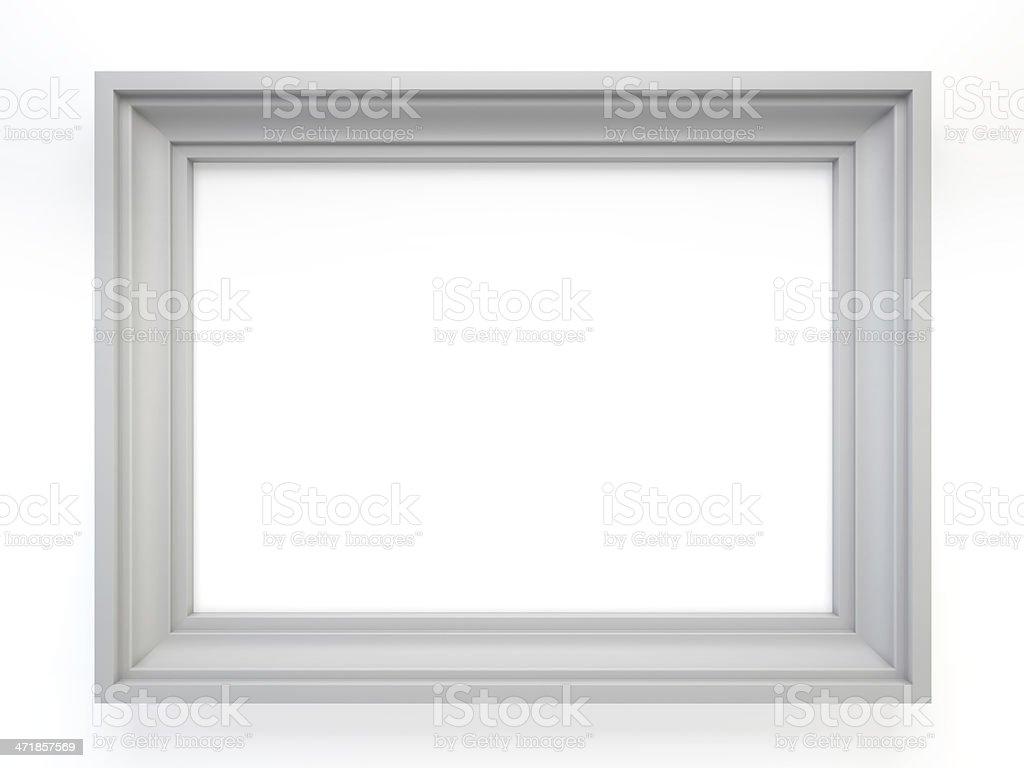 white classic frame stock photo