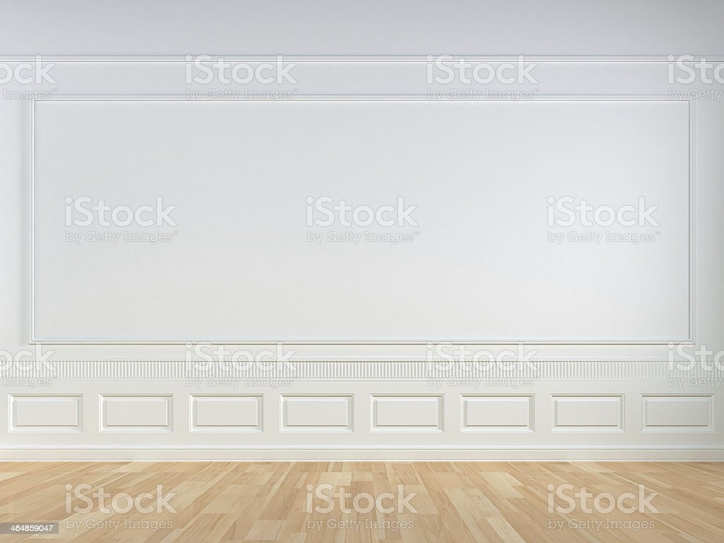white classic wall stock photo