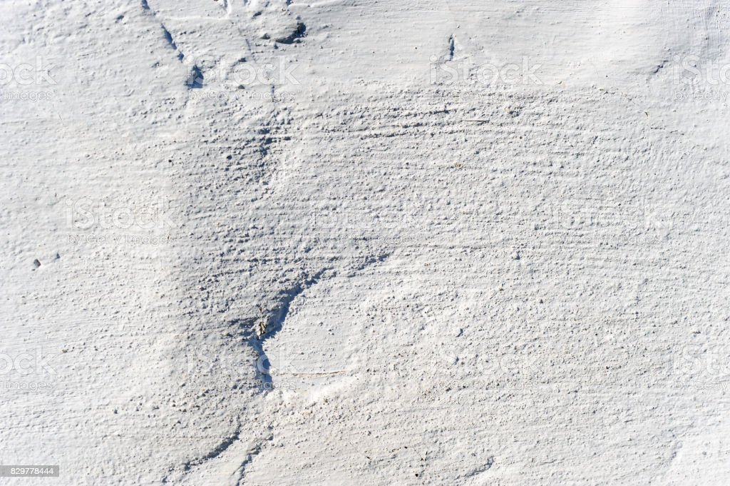 White clay plaster on the wall. stock photo