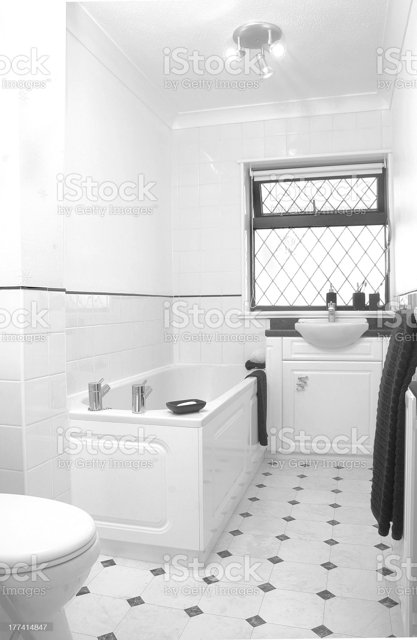 White, clean and modern bathroom royalty-free stock photo