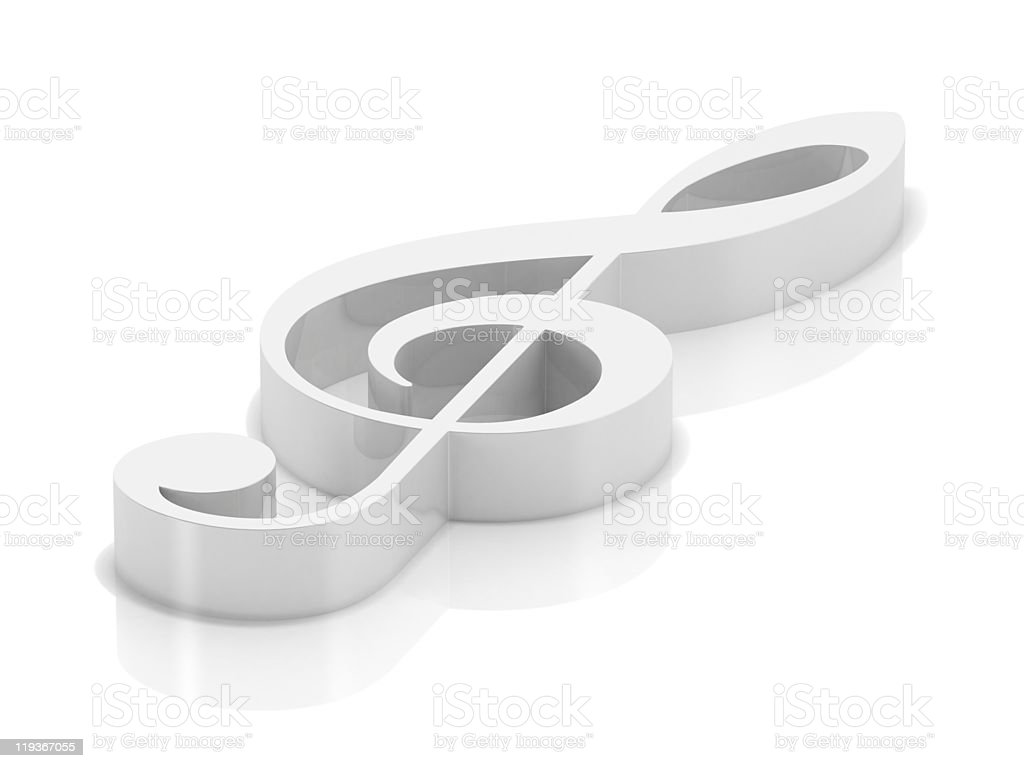 White clef royalty-free stock photo