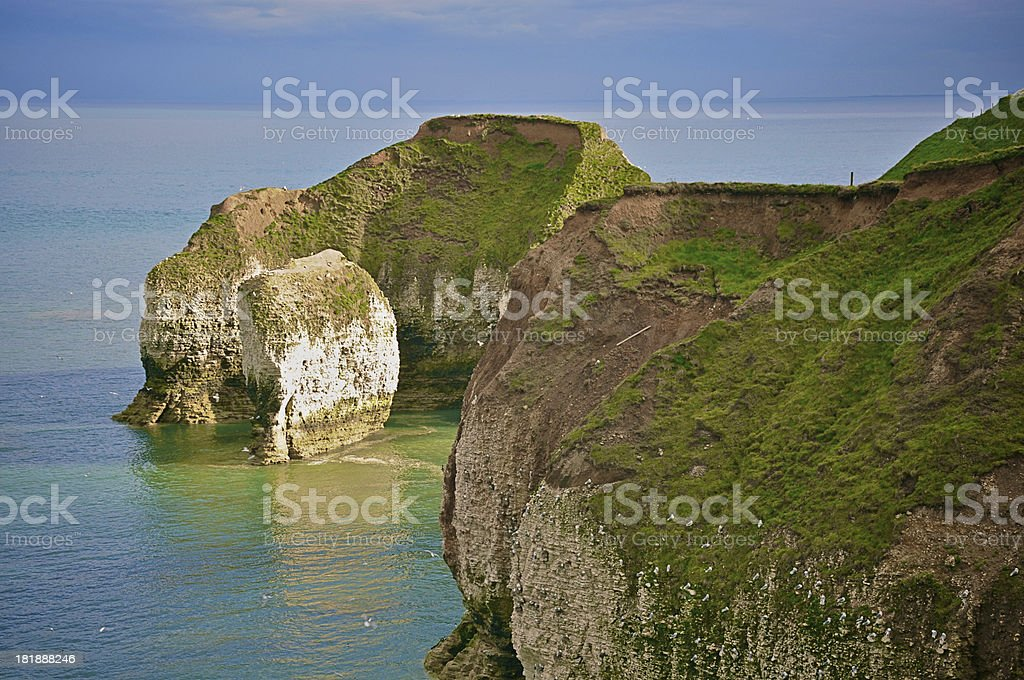 White cliffs in England stock photo