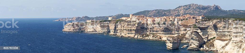 White cliffs of Bonifacio stock photo