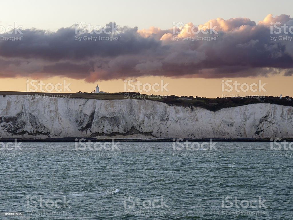 White Cliffs of Dover in Kent England royalty-free stock photo