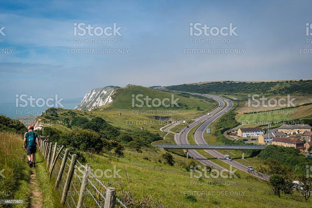 White Cliffs of Dover, UK stock photo