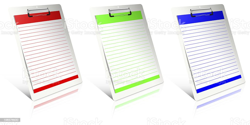 White clipboard royalty-free stock photo