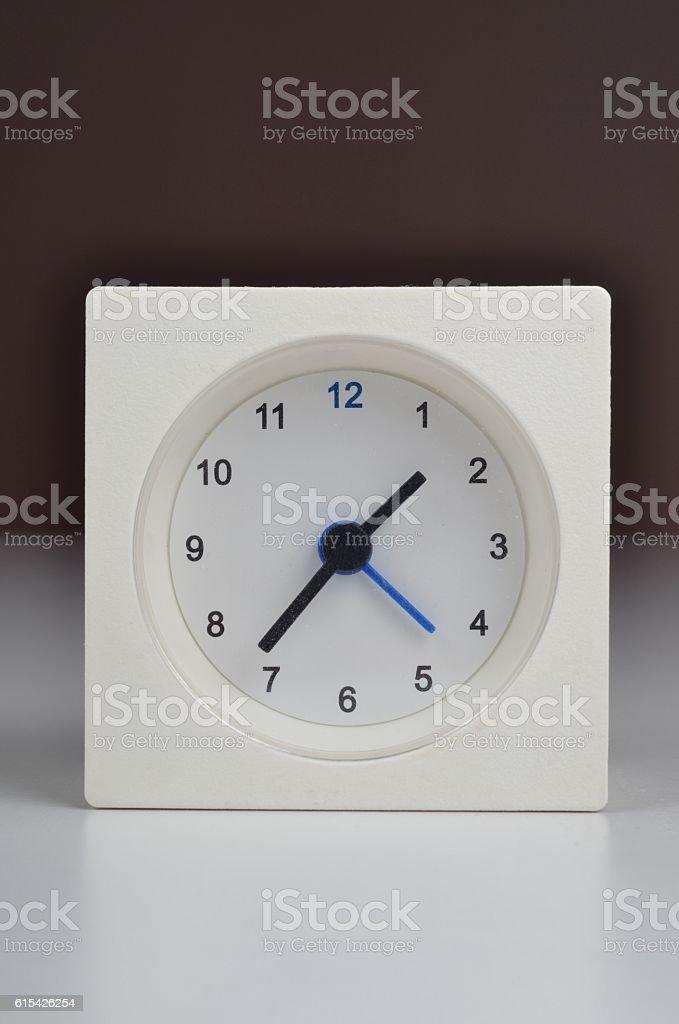 White Clock Alarm Clock stock photo