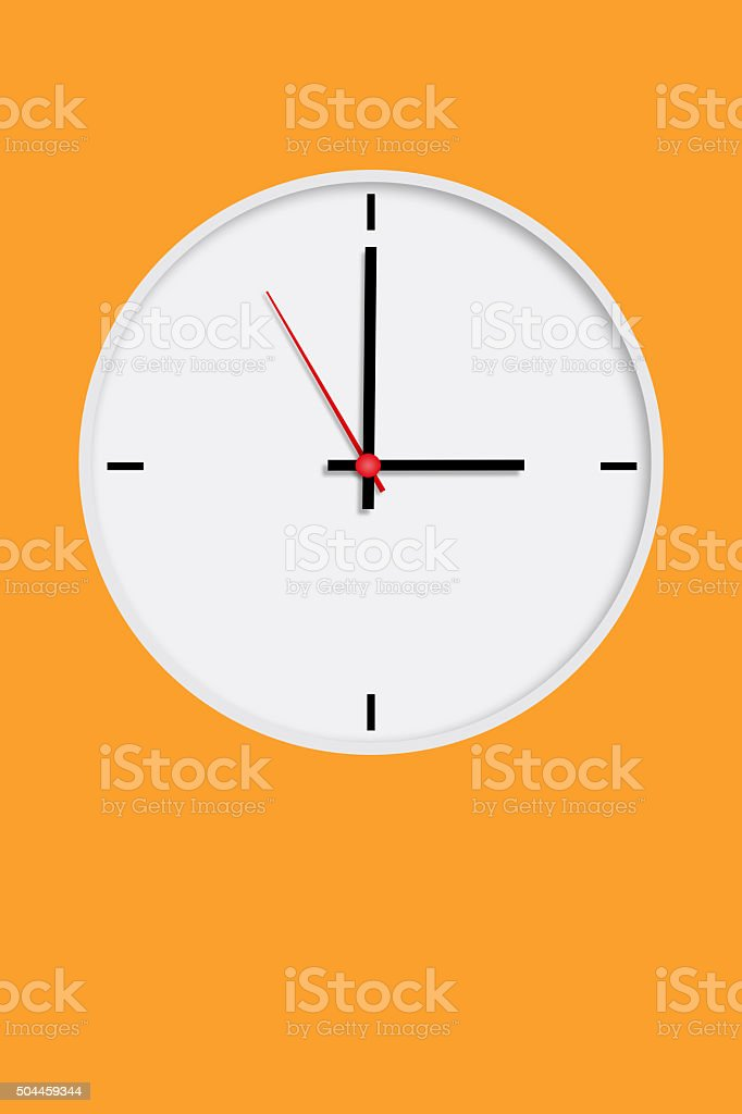 White clock stock photo