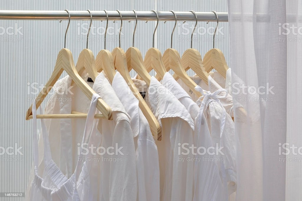 white clothes royalty-free stock photo