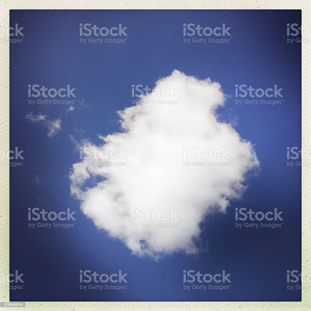 White Cloud and Blue Sky stock photo