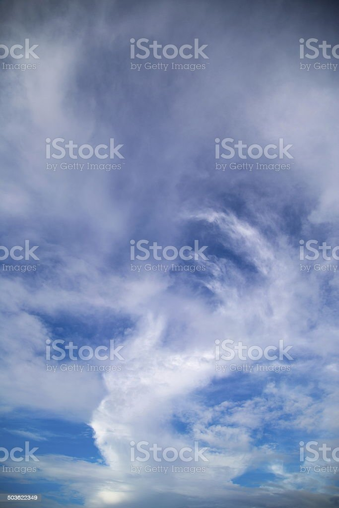 White cloud and bluesky on summer holidays stock photo
