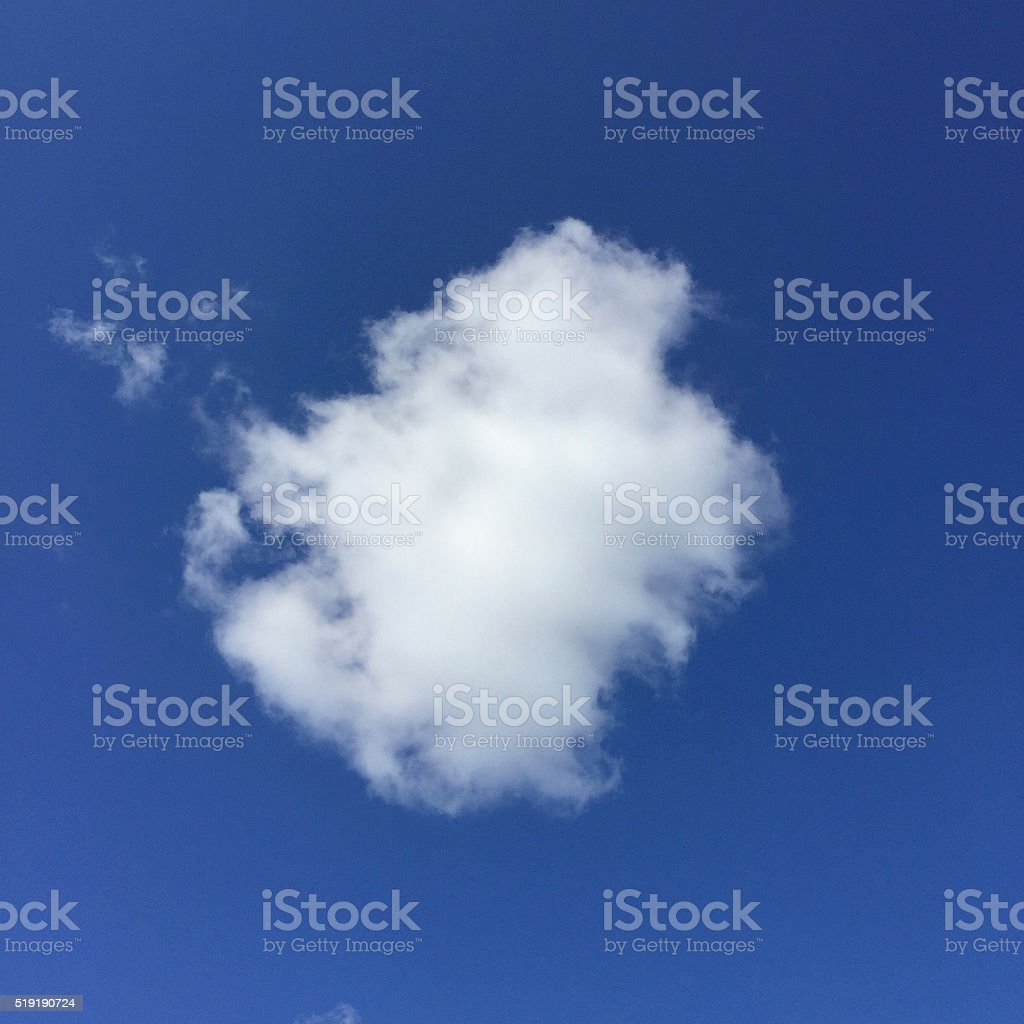White Cloud in Blue Sky stock photo