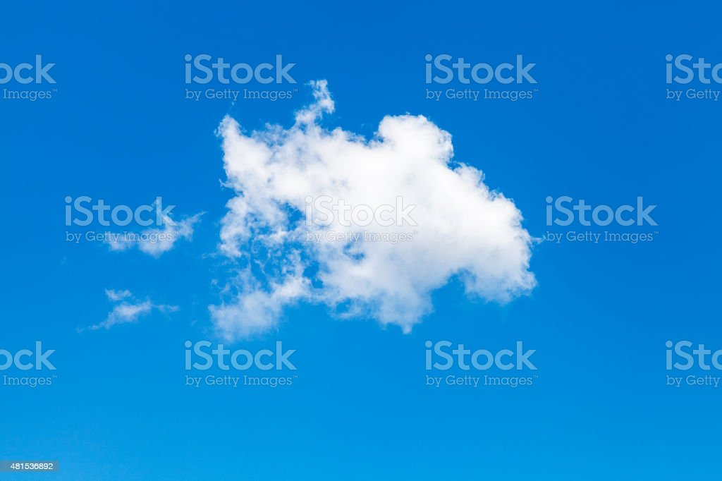 white cloud in blue summer sky stock photo