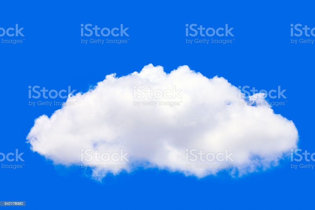 white cloud in blue summer sky. stock photo