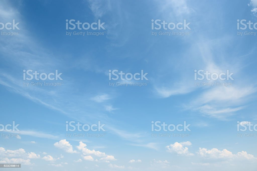 white cloud on blue sky stock photo