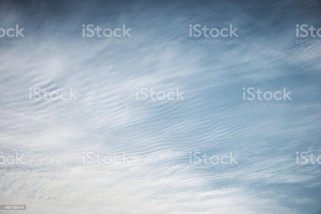 White cloud over blue sky stock photo
