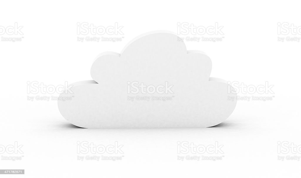 White cloud royalty-free stock photo