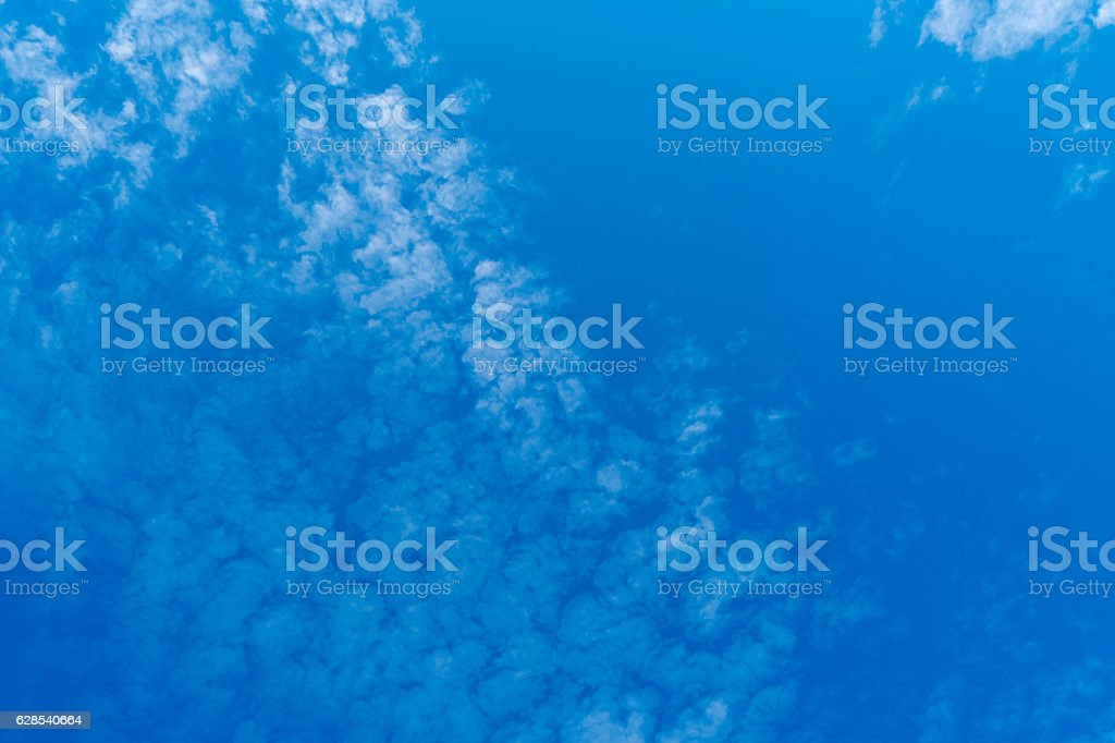 White cloud with Blue sky stock photo