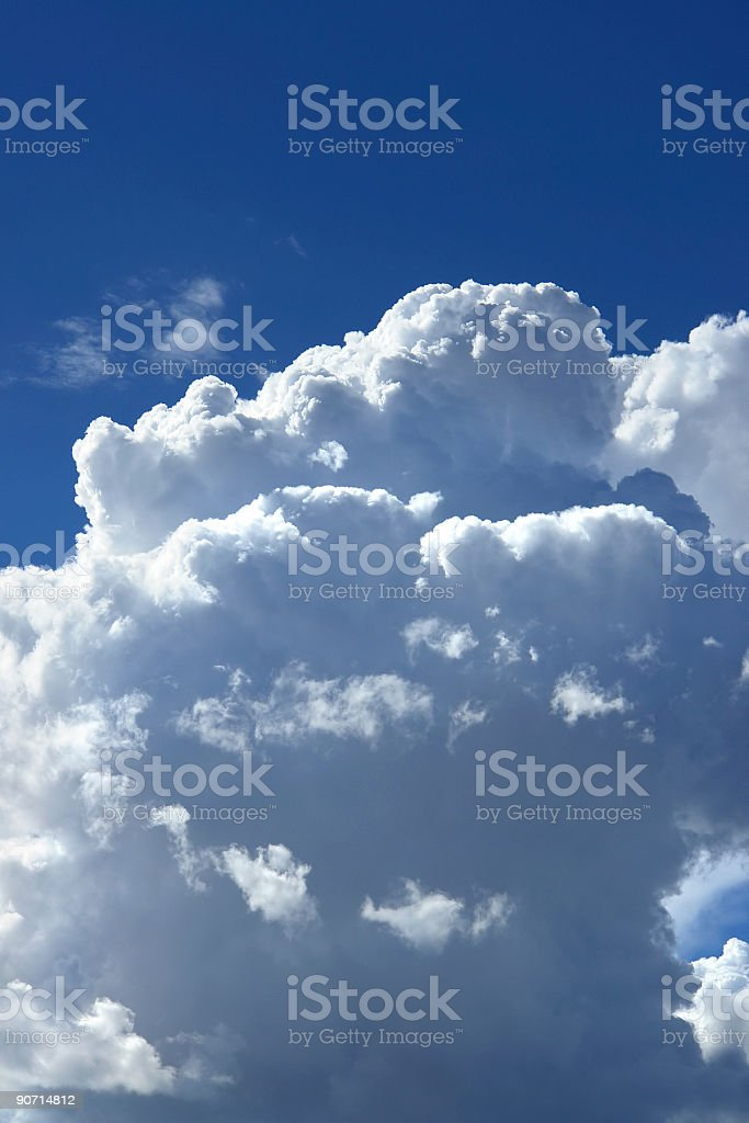 white clouds and blue sky royalty-free stock photo