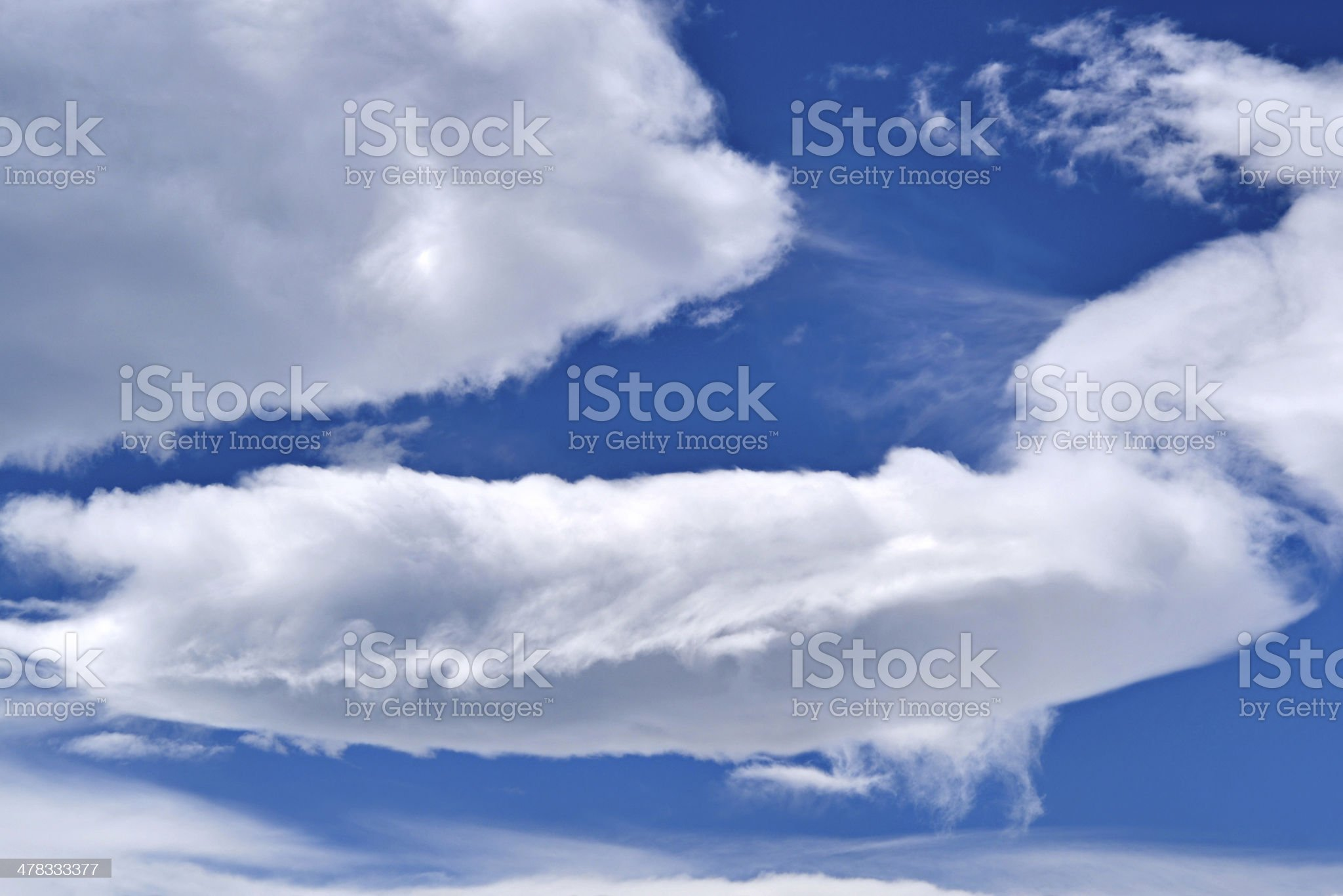 white clouds blue scky royalty-free stock photo