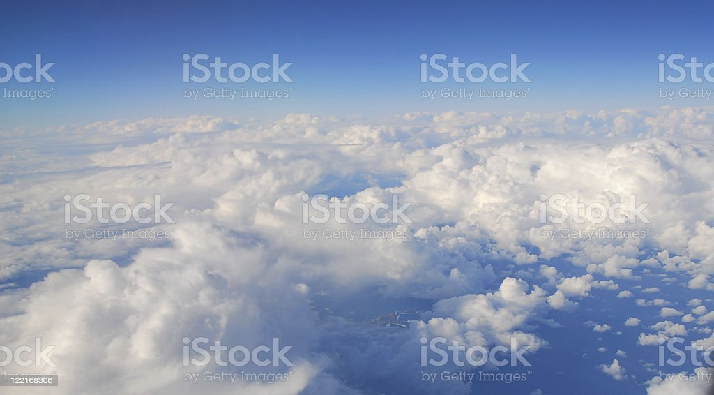 White Clouds Blue Sky royalty-free stock photo