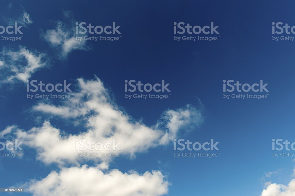 White Clouds in Blue royalty-free stock photo