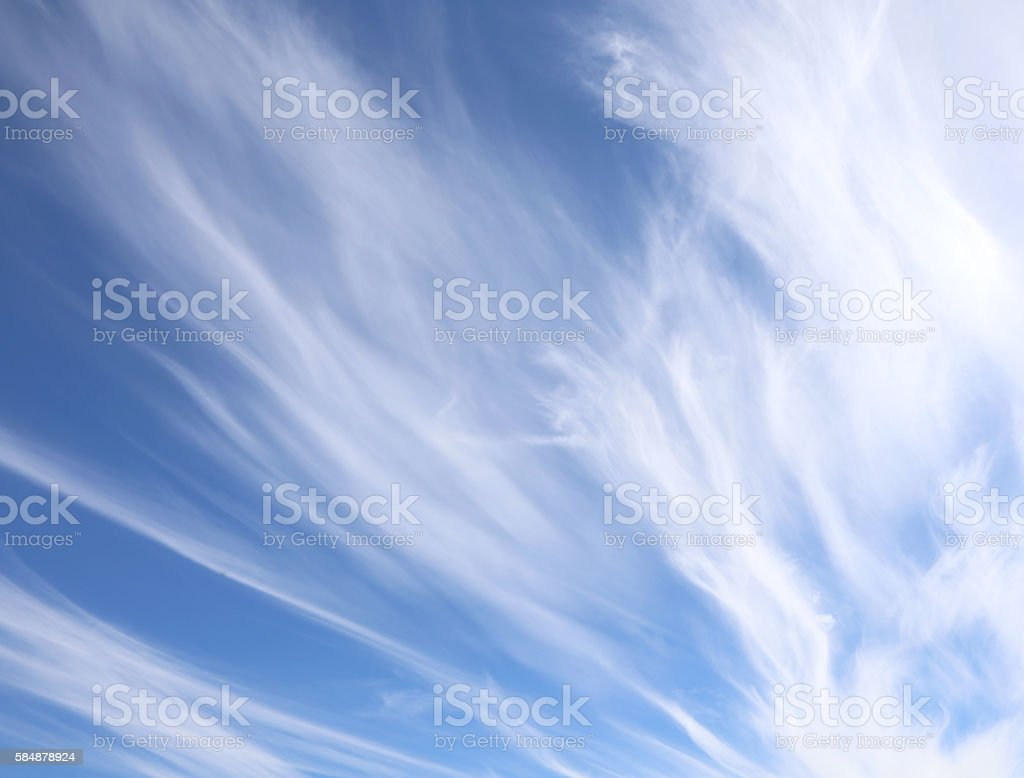 white clouds in the blue sky after the storms stock photo