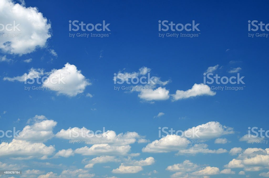 White clouds in the blue sky stock photo