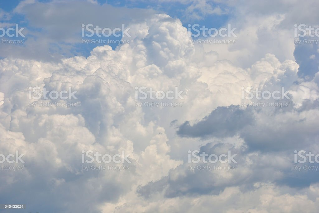 White clouds in the sky. stock photo