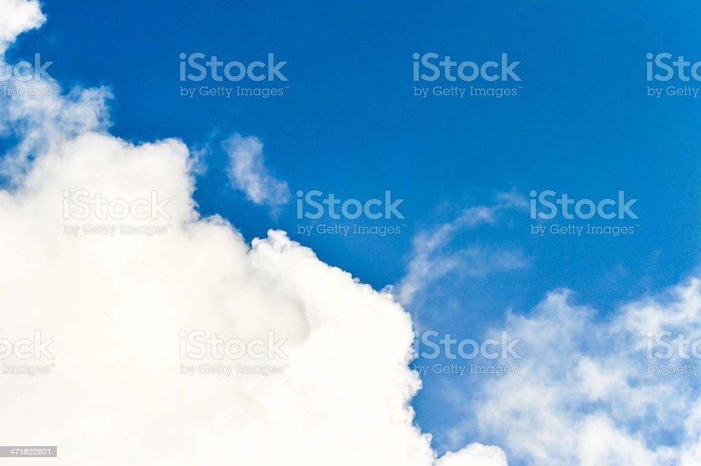white Clouds in the sky with blue area royalty-free stock photo