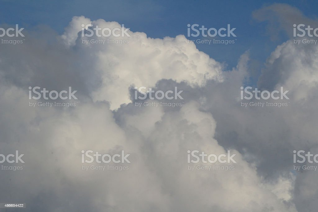 white clouds on background of blue sky stock photo