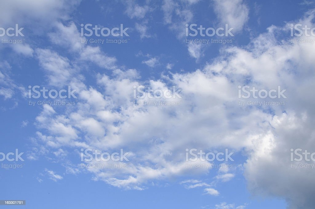 White clouds on blue sky royalty-free stock photo