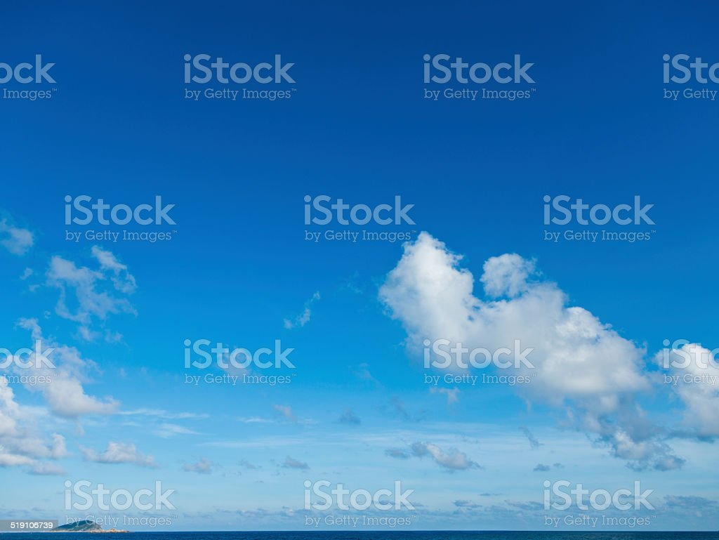 White clouds stock photo