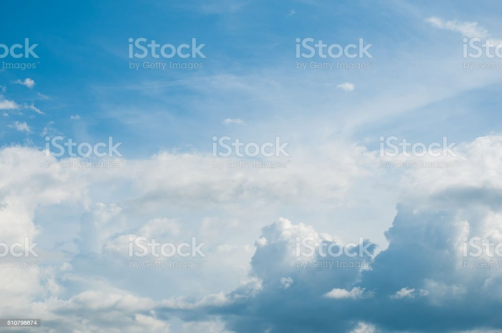 White Cloudy sky stock photo